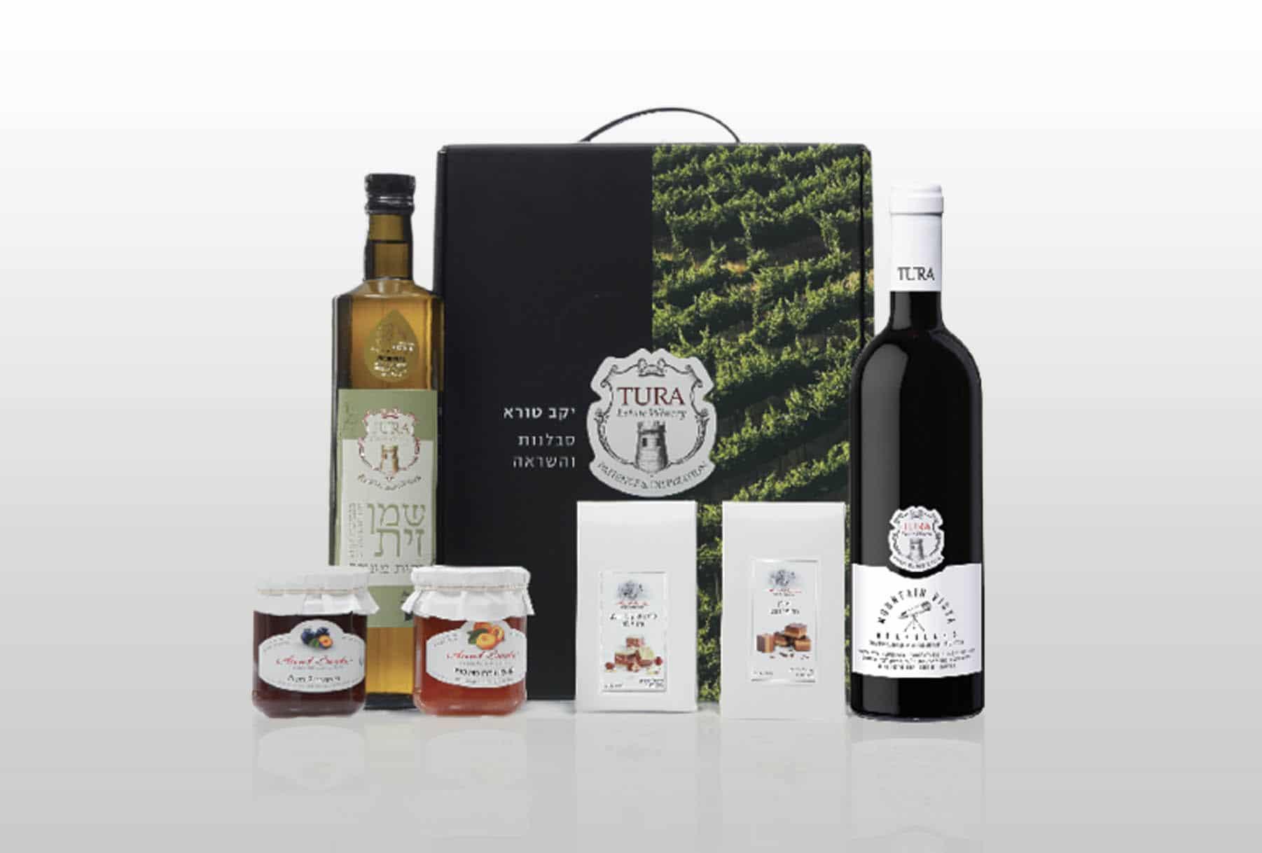 מדבקות להדבקה על מארזי יין + דבש + שוקולד לראש השנה