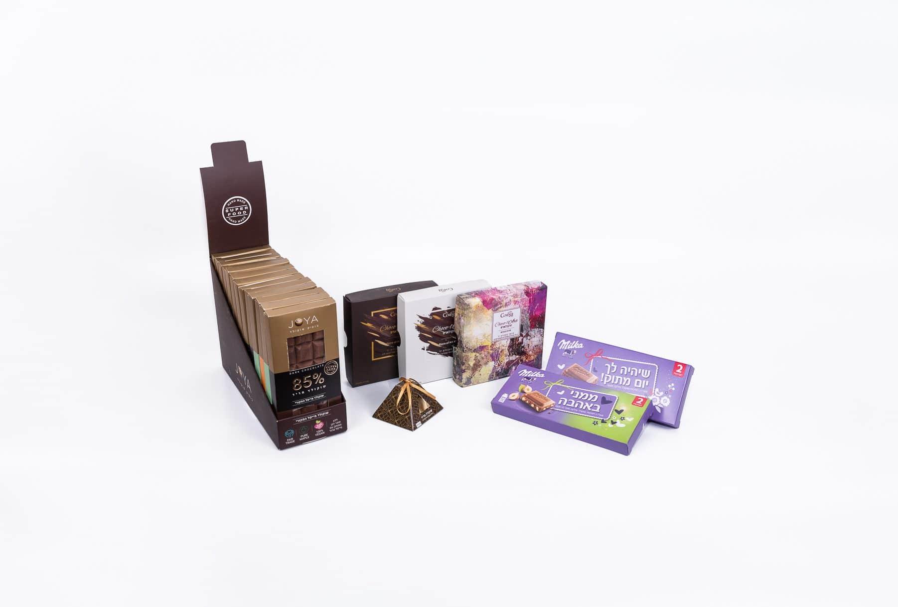 ייצור חפיסות שוקולד