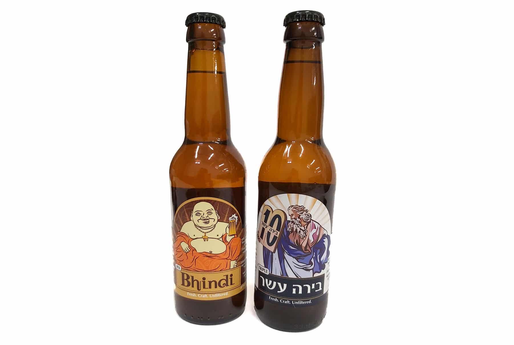 הדפסת מדבקות לבקבוקי בירה - BHINDI ובירה עשר