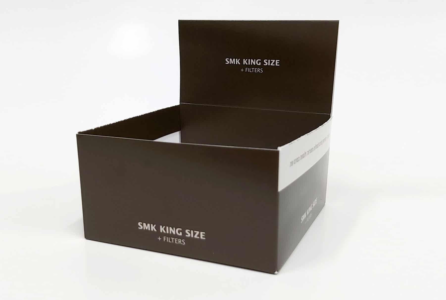 מארז בצבע שחור, כתב לבן, קשיח מקרטון דחוס נוצר במפעלי פאר פרינט