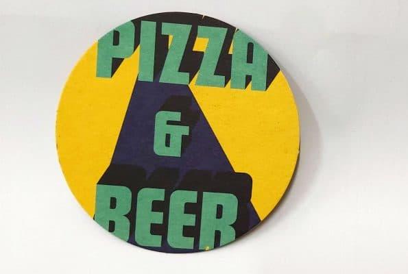 ייצור תחתיות בירה בצבע ירוק, צהוב ושחור ל- PIAZZA & BEER