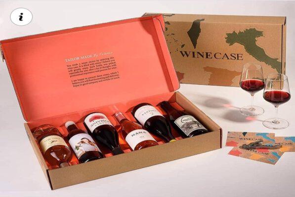אריזות קרטון למשלוחים של בקבוקי יין